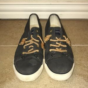 Women's Size 10 Sperry Canvas Slip On Sneakers